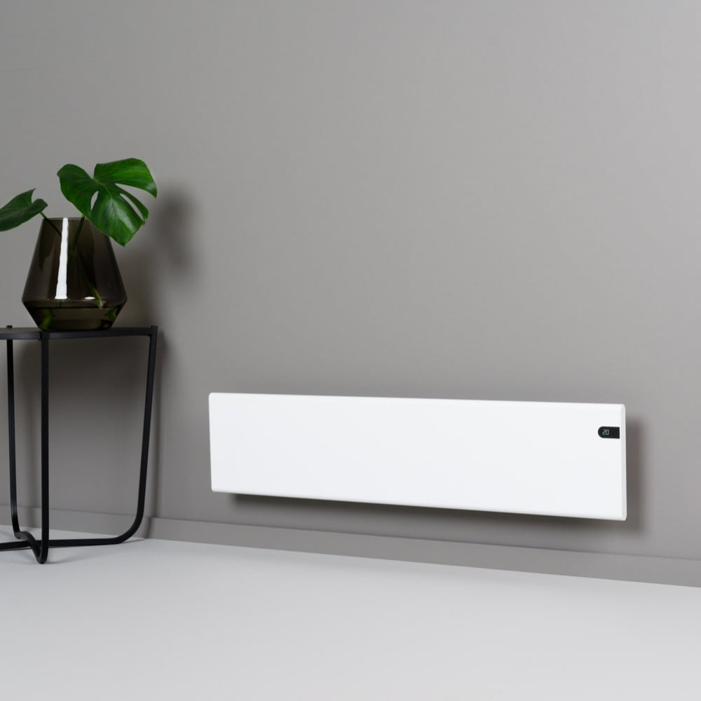 Adax neo low profile skirting electric radiator wall for Small slim radiators