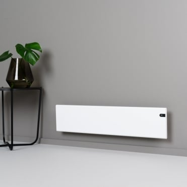 Blue electric panel heaterssolaire electric heating for Small slim radiators