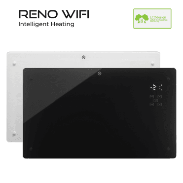 RENO WiFi Electric Panel Heater, Convector Radiator Wall Mounted or Portable