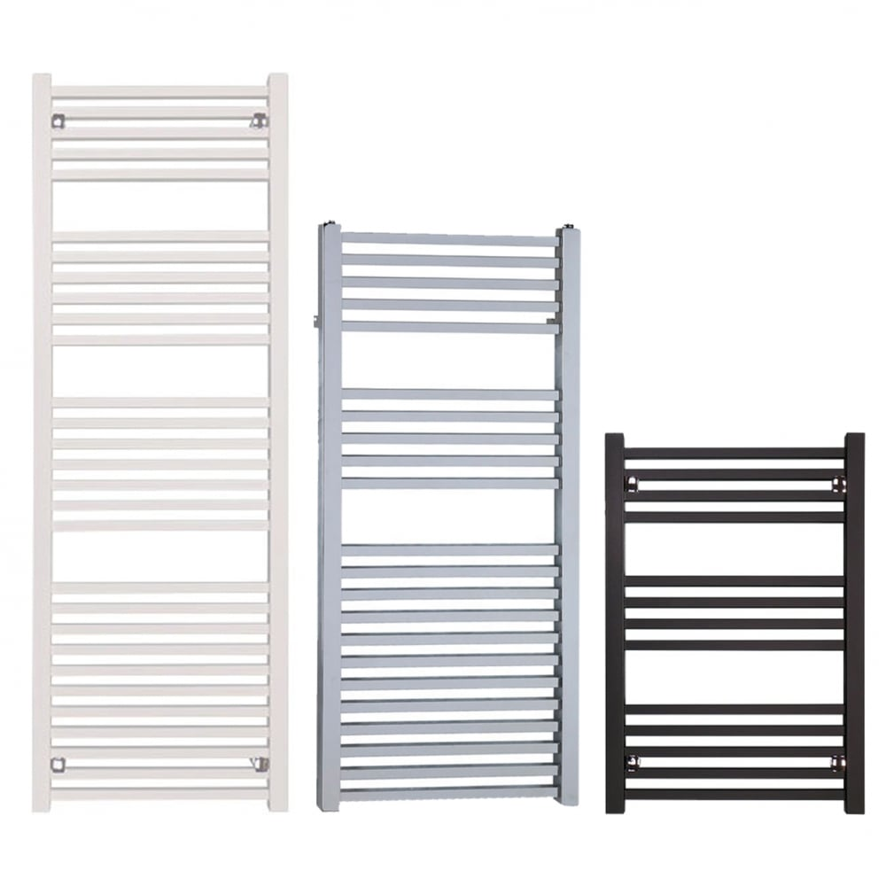 Sol*Aire The Laurel Square Tube Heated Towel Rail: Electric PTC ...