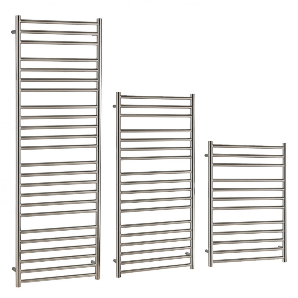 Sol*Aire Stainless Steel Heated Towel Rail Thermostatic Electric The ...