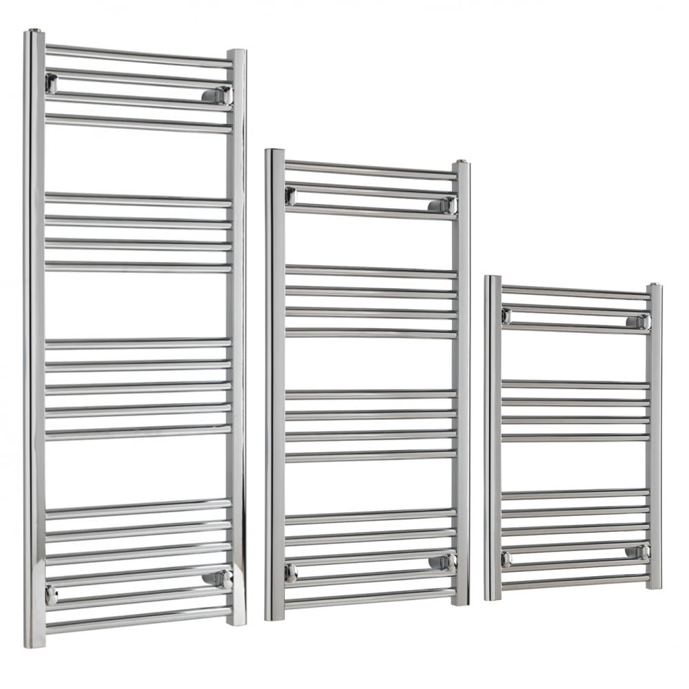 Straight Chrome Heated Towel Rail Electric Ptc The Bray: Tradesman Deluxe Electric Heated Towel Rail, Chrome, Prefilled
